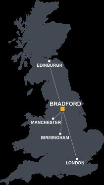 UK Bradford Map Grey   Kids Comics Me And More